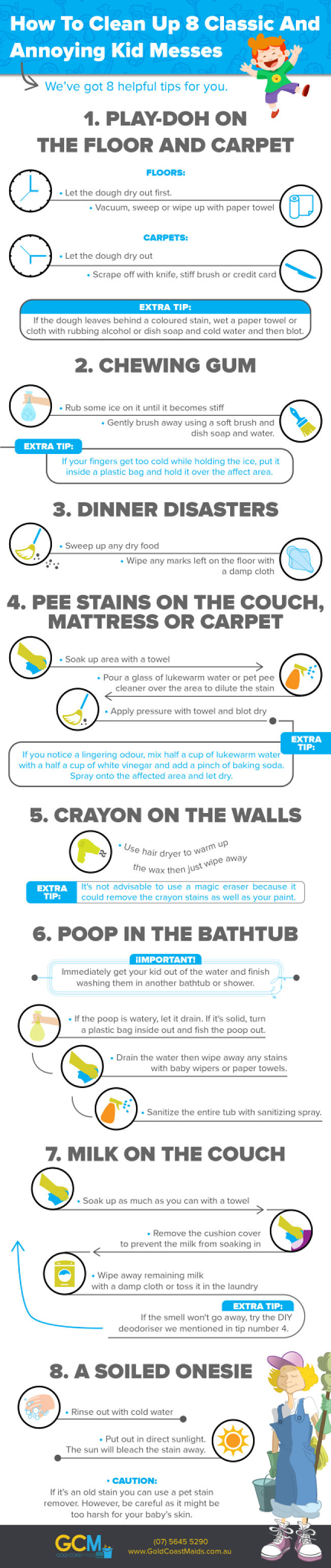 How to Clean Up 8 Classic and Annoying Kid Messes