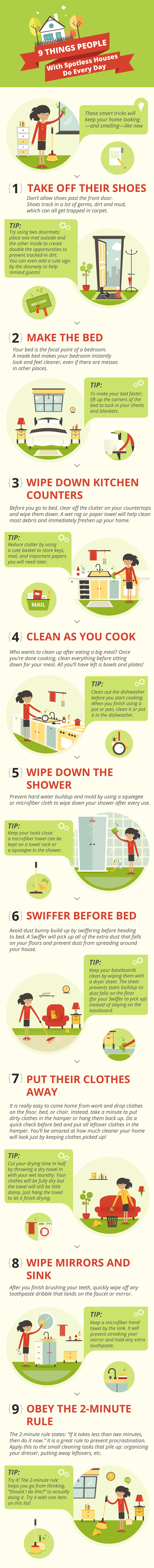 9 Things People With Messy Houses Do Everyday (Infographic)